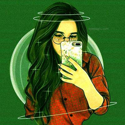 selfi girl Stylish dp