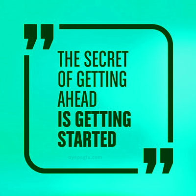 the secret of getting ahead dp quotes