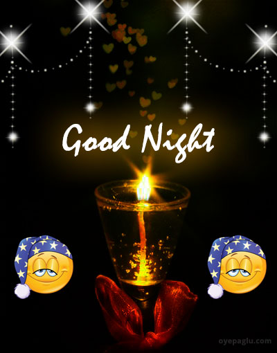 beautiful Good night candle images