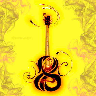 Guitar tattoo For Girls