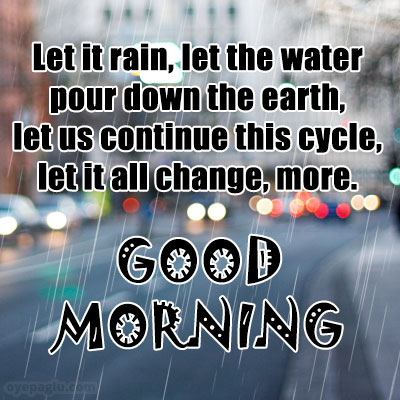 amazing good morning rain images