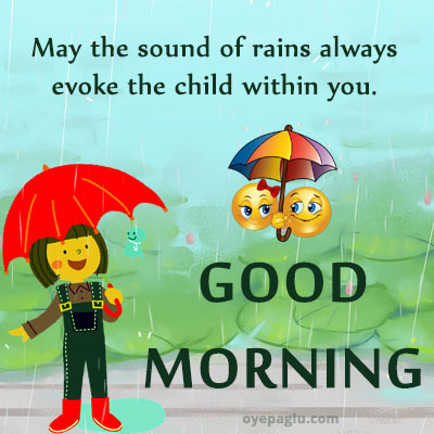beautiful good morning rain images