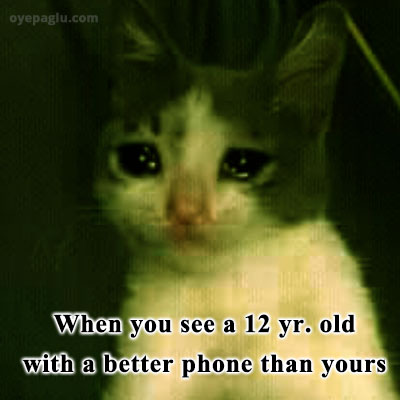 better phone crying cat meme