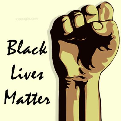 black lives matter hand
