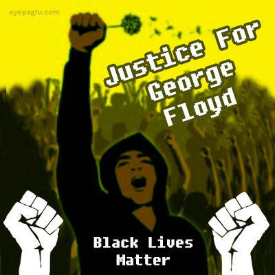 black lives matter justice for george floyd poster