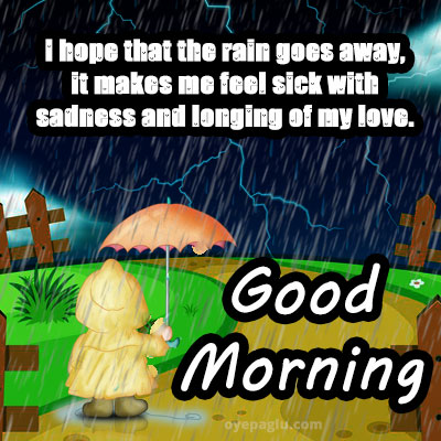 cartoon good morning rain images