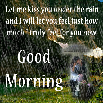 kiss good morning rain images