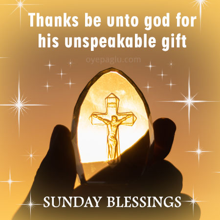 sunday blessings thanks for god